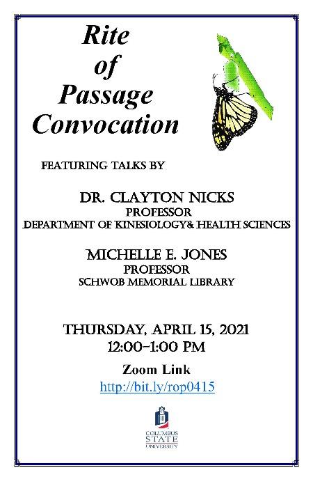 Columbus State University's April 15th Rites of Passage Event